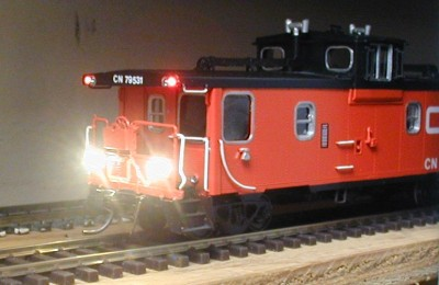 N scale caboose marker lights
